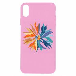 Чохол для iPhone X/Xs Flower coat of arms of Ukraine