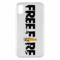 Чехол для iPhone X/Xs Free Fire spray