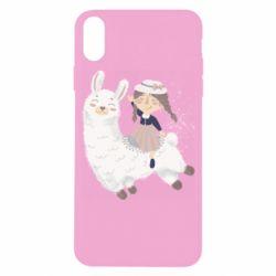 Чохол для iPhone X/Xs Girl with a lama