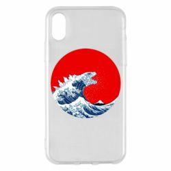 Чохол для iPhone X/Xs Godzilla Wave
