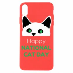 Чехол для iPhone X/Xs Happy National Cat Day