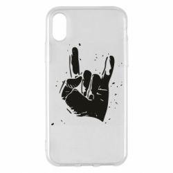 Чехол для iPhone X/Xs HEAVY METAL ROCK