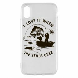 Чохол для iPhone X/Xs I love it when she bends over