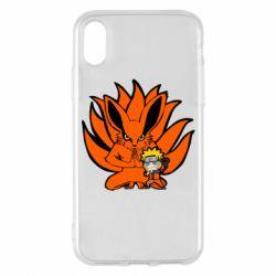 Чохол для iPhone X/Xs Kurama And Naruto