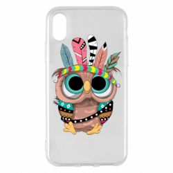 Чохол для iPhone X/Xs Little owl with feathers