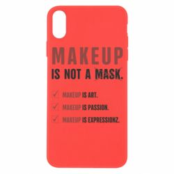 Чехол для iPhone X/Xs Make Up Is Not A Mask