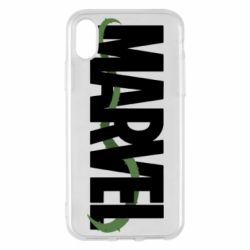 Чехол для iPhone X/Xs Marvel logo and vine
