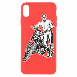 Чехол для iPhone X/Xs Mickey Rourke and the motorcycle