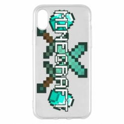 Чохол для iPhone X/Xs Minecraft алмазний меч