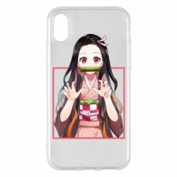Чохол для iPhone X/Xs Nezuko