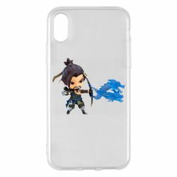 Чехол для iPhone X/Xs Overwatch Hanzo Chibi