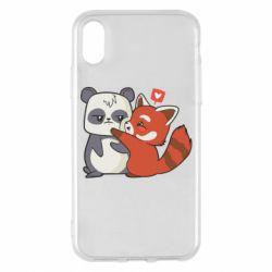 Чохол для iPhone X/Xs Panda and fire panda