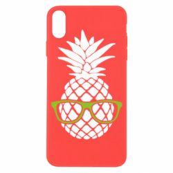 Чехол для iPhone X/Xs Pineapple with glasses
