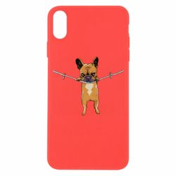 Чехол для iPhone X/Xs Puppy On The Rope
