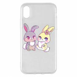 Чохол для iPhone X/Xs Rabbits In Love