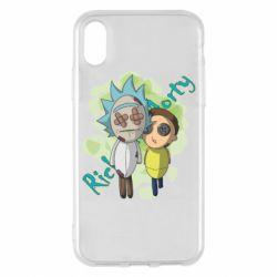 Чохол для iPhone X/Xs Rick and Morty voodoo doll