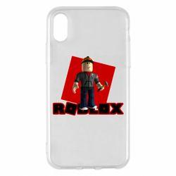 Чехол для iPhone X/Xs Roblox Builderman
