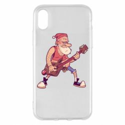 Чохол для iPhone X/Xs Rock'n'roll Santa