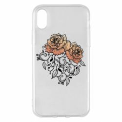 Чохол для iPhone X/Xs Roses with patterns