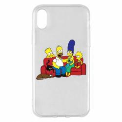Чехол для iPhone X/Xs Simpsons At Home