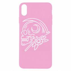 Чохол для iPhone X/Xs Skull with scythe