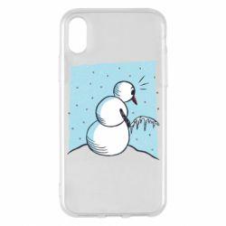 Чохол для iPhone X/Xs Snowman. It's Cold!