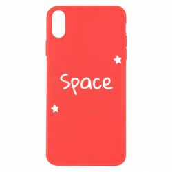 Чохол для iPhone X/Xs Space: Letters and Stars Print