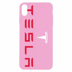 Чехол для iPhone X/Xs Tesla