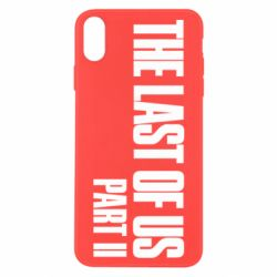 Чехол для iPhone X/Xs The last of us part 2 logo