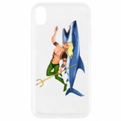 Чехол для iPhone XR Aquaman with a shark