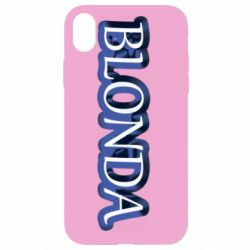 Чехол для iPhone XR BLONDA