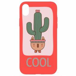 Чехол для iPhone XR Cactus art