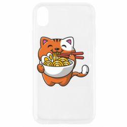 Чохол для iPhone XR Cat and Ramen