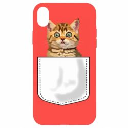 Чехол для iPhone XR Cat in your pocket