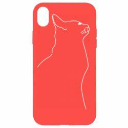 Чохол для iPhone XR Cat line