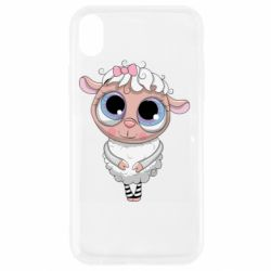 Чехол для iPhone XR Cute lamb with big eyes