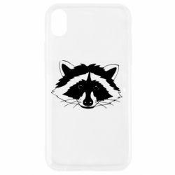 Чохол для iPhone XR Cute raccoon face