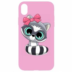 Чехол для iPhone XR Cute raccoon