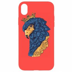Чехол для iPhone XR Eagle with a crown on its head