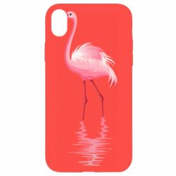 Чохол для iPhone XR Фламинго