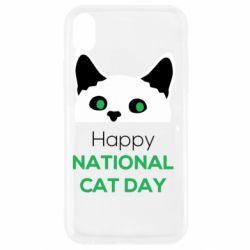 Чехол для iPhone XR Happy National Cat Day
