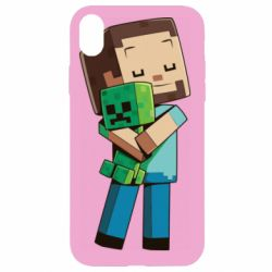 Чехол для iPhone XR Heroes from Minecraft