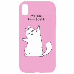 Чехол для iPhone XR I'm feline paw some