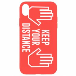 Чохол для iPhone XR Keep your distance