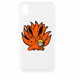 Чохол для iPhone XR Kurama And Naruto