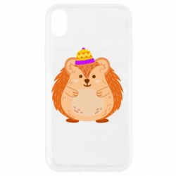 Чохол для iPhone XR Little hedgehog in a hat