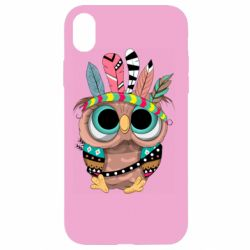 Чохол для iPhone XR Little owl with feathers