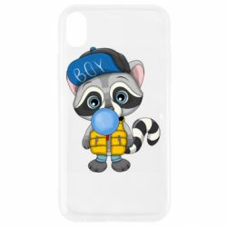 Чехол для iPhone XR Little raccoon