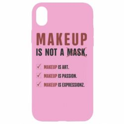 Чехол для iPhone XR Make Up Is Not A Mask