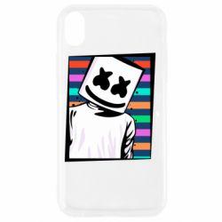 Чехол для iPhone XR Marshmello Colorful Portrait